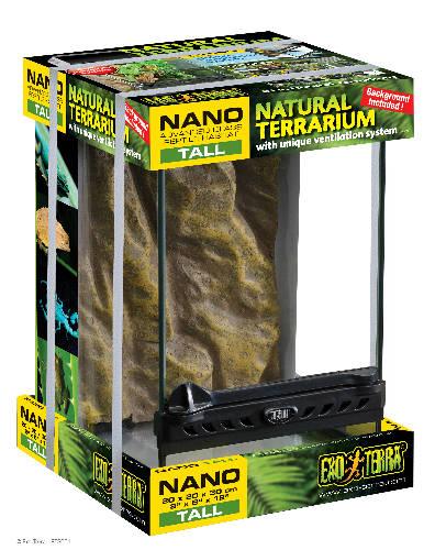 Exo-Terra Nano Tall Terrarium - Dekoratív kivitelű üvegterrárium (20x20x30cm)